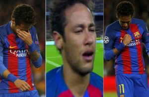 Neymar disconsolate after final whistle